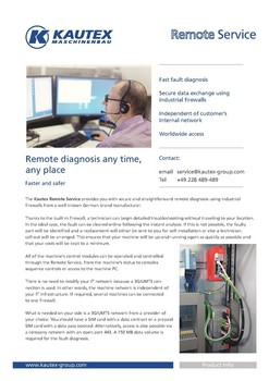 Remote Service flyer